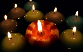 Multiple color candles wallpapers and stock photos