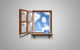 Window in the sky wallpapers and stock photos
