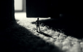 Random: Person in miniature
