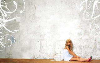 Blonde sitting down wallpapers and stock photos