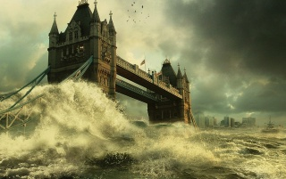 Tower Bridge flood wallpapers and stock photos