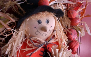 Scarecrow Wreath wallpapers and stock photos