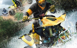 ATV and water wallpapers and stock photos