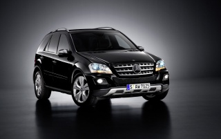 Mercedes ML front wallpapers and stock photos