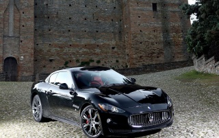 Maserati coupe front wallpapers and stock photos