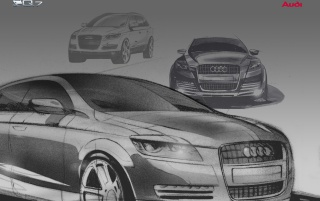 Audi Q7 drawing wallpapers and stock photos