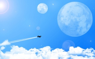 Plane vector wallpapers and stock photos