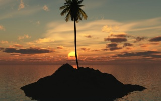 Palm Island wallpapers and stock photos