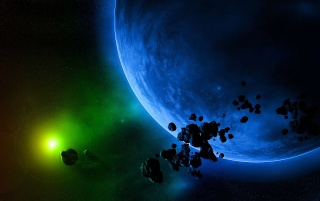 Blue planet Green sun wallpapers and stock photos