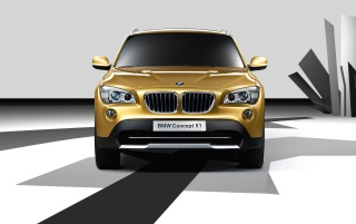 BMW X1 front wallpapers and stock photos