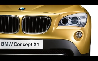BMW X1 headlights wallpapers and stock photos