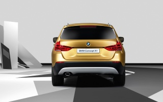 BMW X1 rear wallpapers and stock photos