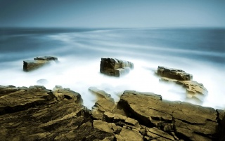 Sea mist wallpapers and stock photos