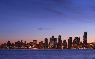 Seattle at dawn wallpapers and stock photos