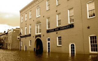 Flooded buildings wallpapers and stock photos