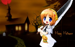 Girl with knife wallpapers and stock photos