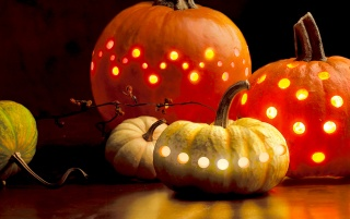 Holes in pumpkins wallpapers and stock photos