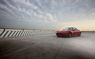 Maserati GT and sky wallpapers and stock photos