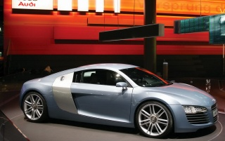 R8 in showroom wallpapers and stock photos