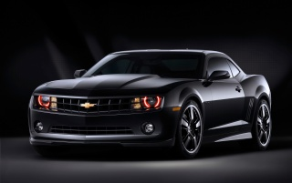 Camaro black front wallpapers and stock photos