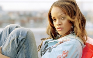 Rihanna in jeans wallpapers and stock photos