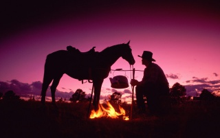 Cowboy and fire wallpapers and stock photos