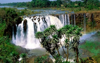 Blue Nile Falls wallpapers and stock photos