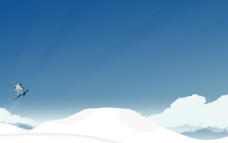 Skiing over the skies wallpapers and stock photos