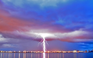 Lightning reflection wallpapers and stock photos