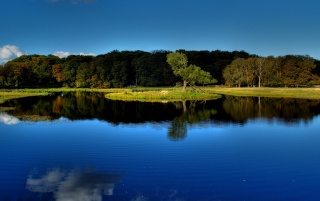Blue lake reflection wallpapers and stock photos