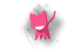 Pink cat sketch wallpapers and stock photos