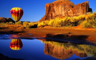 Balloon reflection wallpapers and stock photos