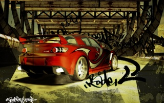 NFS red Mazda wallpapers and stock photos