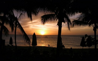 Caribbean sundown wallpapers and stock photos