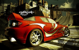 NFS red Mazda RX8 wallpapers and stock photos