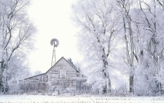 Frosted Farmland wallpapers and stock photos