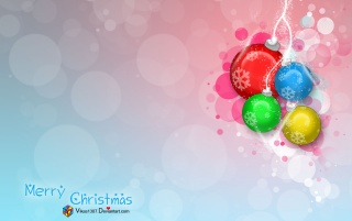 Colorful Xmas globes wallpapers and stock photos