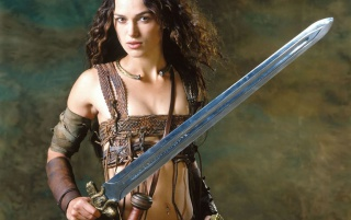 Girl with sword wallpapers and stock photos