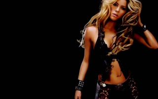 Shakira in black wallpapers and stock photos