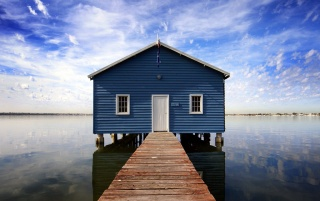 Blue water house wallpapers and stock photos