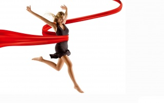 Red ribbon woman wallpapers and stock photos