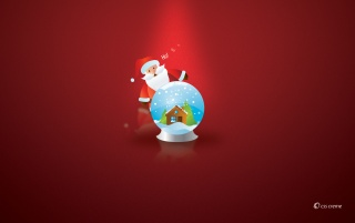 Santa with globe wallpapers and stock photos