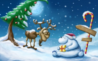 Reindeer & snowman wallpapers and stock photos