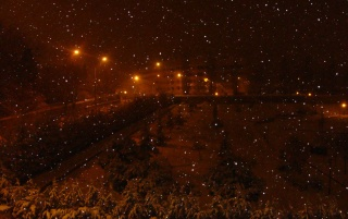 Snow in the night wallpapers and stock photos
