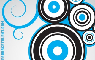 One Source Talent Blue Circles wallpapers and stock photos
