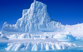 Eroded iceberg wallpapers and stock photos