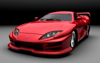 Red sports car angle wallpapers and stock photos