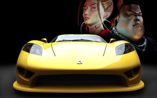 Random: Yellow sports car