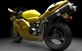 Previous: Yellow sports bike