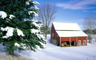 Winter cabin wallpapers and stock photos